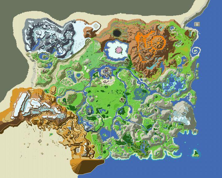 彩色立体版地图 出处:ArtPal